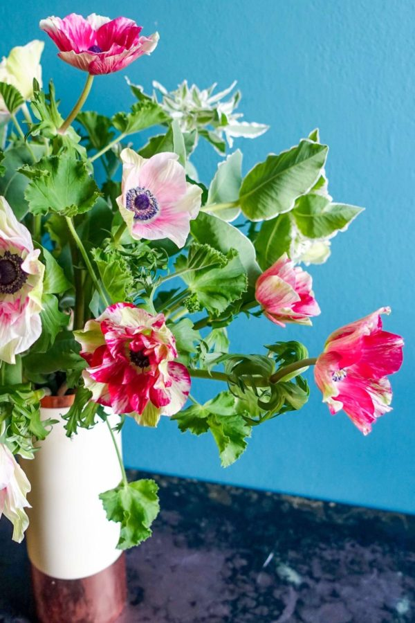 DIY Arrangement with Anemones & Greens Flower